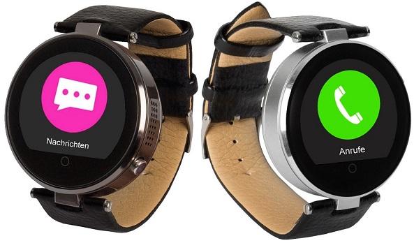 enox rsw55 bluetooth smartwatch rund design f r apple ios android schrittz hler ebay. Black Bedroom Furniture Sets. Home Design Ideas