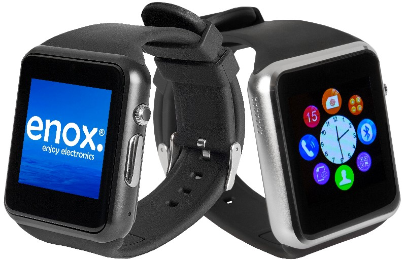 enox swp22 smartwatch smartphone bluetooth handyuhr sim. Black Bedroom Furniture Sets. Home Design Ideas
